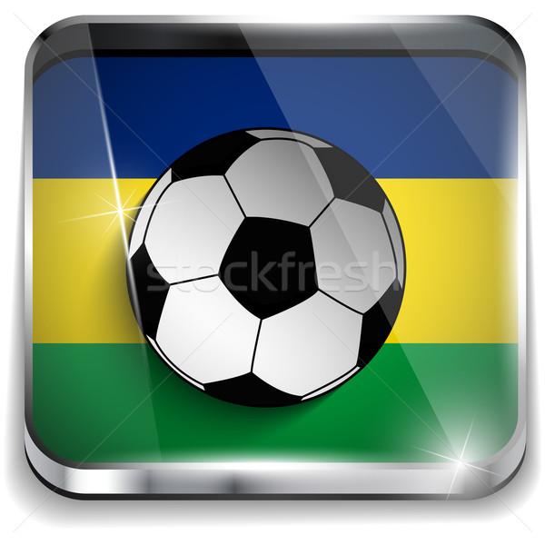 Brazil Flag with Soccer Ball Background Stock photo © gubh83