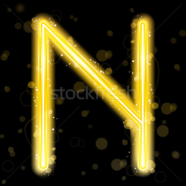 Alfabe altın harfler parıltı vektör arka plan Stok fotoğraf © gubh83
