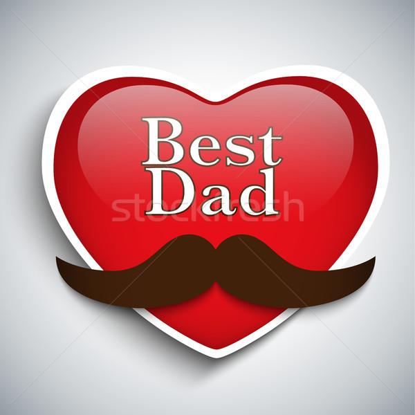 Stock photo: Happy Father Day Mustache Love