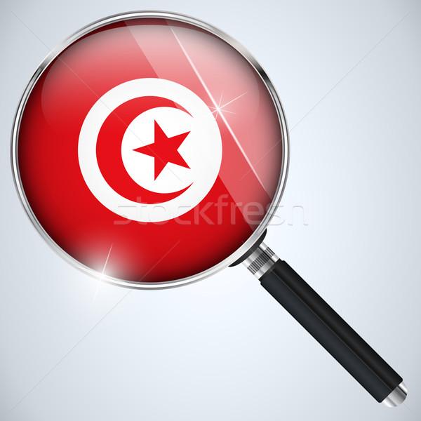 USA kormány kém program vidék Tunézia Stock fotó © gubh83