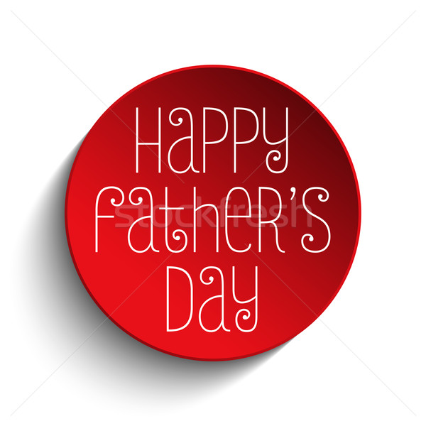 Happy Fathers Day Red Icon Button Stock photo © gubh83