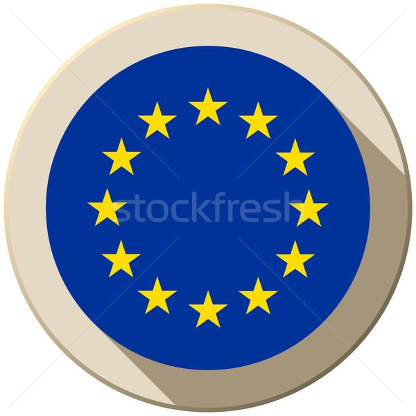 Avrupa bayrak düğme ikon modern vektör Stok fotoğraf © gubh83