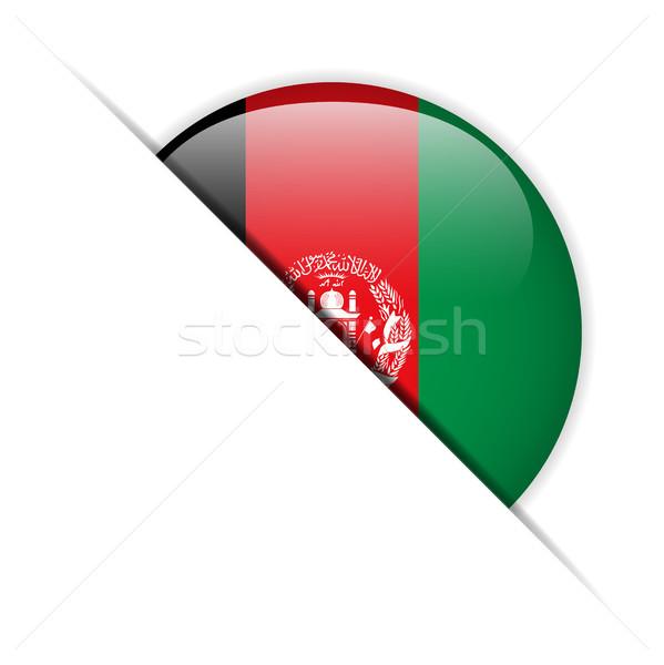 Afganistan bayrak parlak düğme vektör cam Stok fotoğraf © gubh83