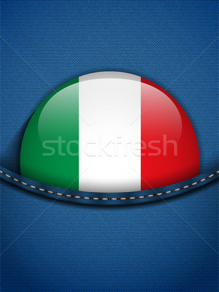 Italy Flag Button in Jeans Pocket Stock photo © gubh83