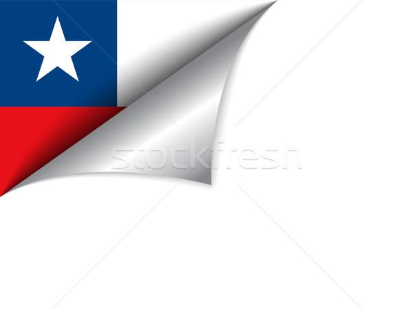 Zdjęcia stock: Chile · kraju · banderą · strona · wektora · podpisania