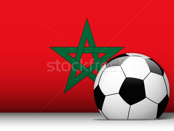 Stock fotó: Marokkó · futballabda · zászló · vektor · terv · világ