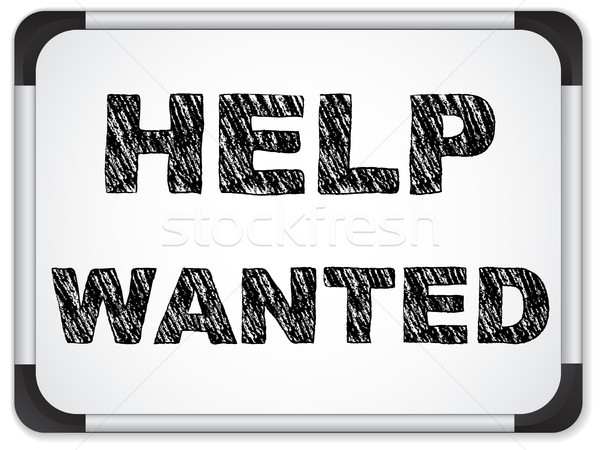 Help Wanted written on Chalk Whiteboard Stock photo © gubh83