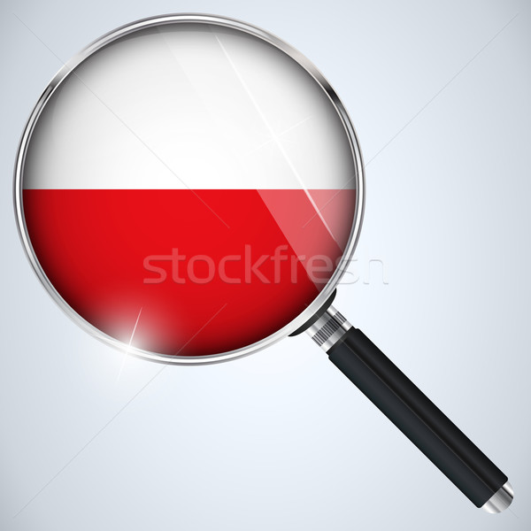 USA gouvernement espion programme pays Pologne Photo stock © gubh83