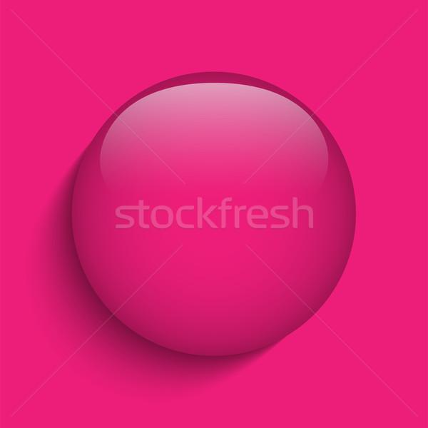 ピンク ガラス サークル ボタン アイコン ベクトル ストックフォト © gubh83