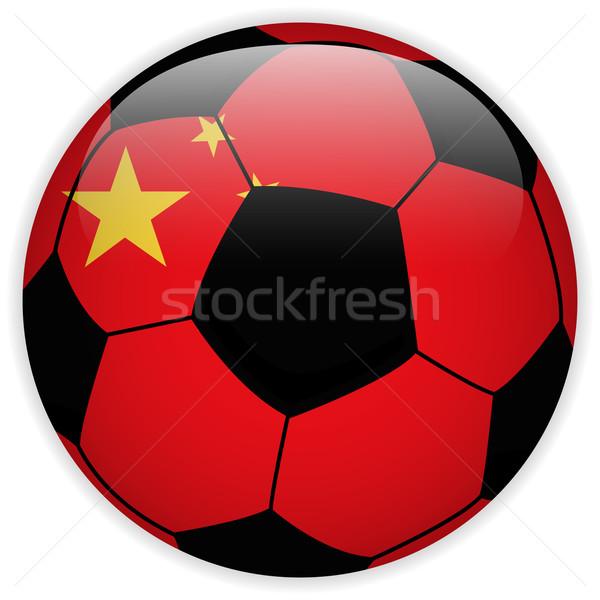 中国 フラグ サッカーボール ベクトル 世界 サッカー ストックフォト © gubh83