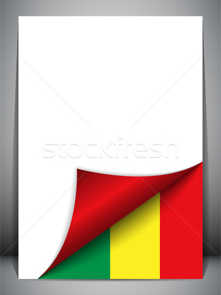 Stock photo: Mali Country Flag Turning Page