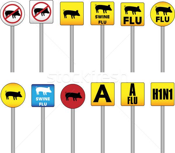 Cerdo gripe signos peligro atención nuevos Foto stock © gubh83