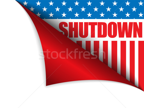 Shutdown Closed United States of America Page Corner Stock photo © gubh83