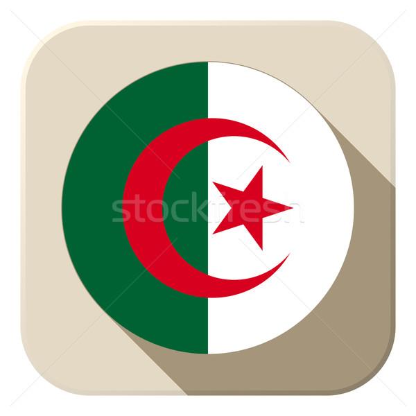 Алжир флаг кнопки икона современных вектора Сток-фото © gubh83