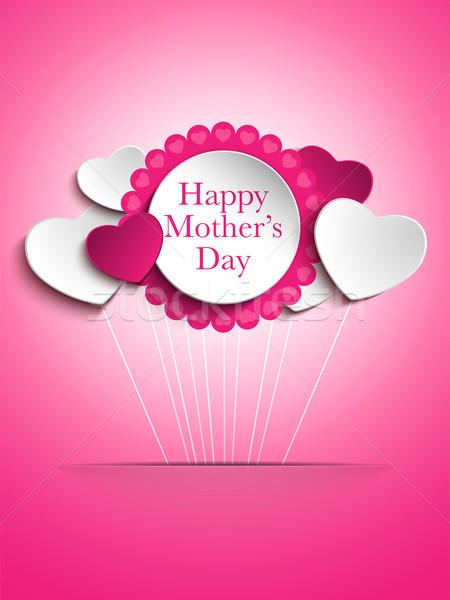 Szczęśliwy matka dzień serca wektora papieru Zdjęcia stock © gubh83