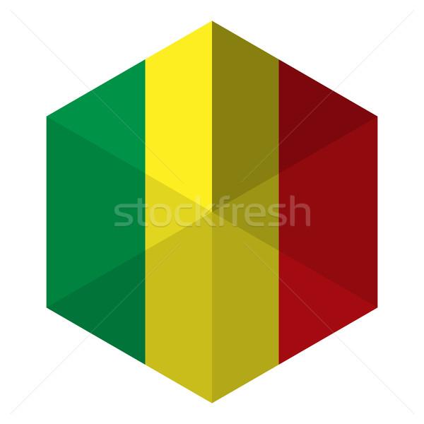 Mali Flag Hexagon Flat Icon Button Stock photo © gubh83