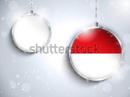 Alegre Navidad rojo pelota bandera Rusia Foto stock © gubh83