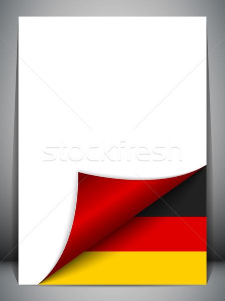 Almanya ülke bayrak sayfa vektör imzalamak Stok fotoğraf © gubh83