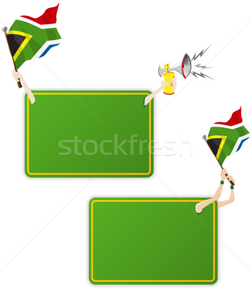 South Africa Sport Message Frame with Flag. Set of Two Stock photo © gubh83