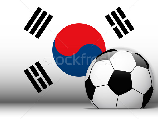 South Korea Soccer Ball with Flag Background Stock photo © gubh83