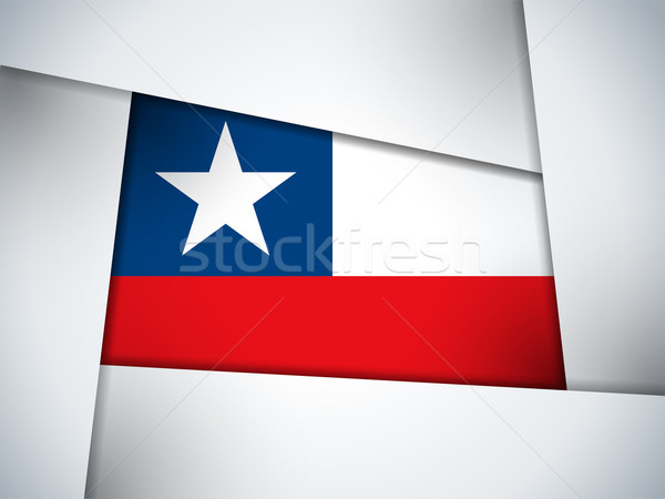 Chile Country Flag Geometric Background Stock photo © gubh83