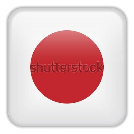 Giappone bandiera smartphone applicazione piazza pulsanti Foto d'archivio © gubh83