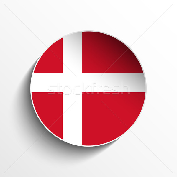 Dinamarca bandeira papel círculo sombra botão Foto stock © gubh83