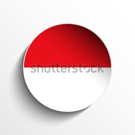 Монако флаг бумаги круга тень кнопки Сток-фото © gubh83