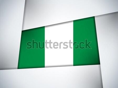 Nijerya ülke bayrak geometrik vektör iş Stok fotoğraf © gubh83