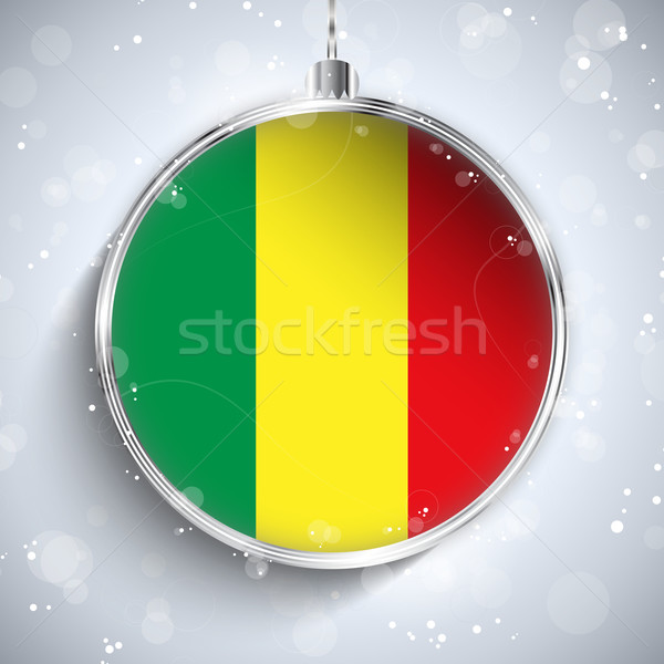 Merry Christmas Silver Ball with Flag Mali Stock photo © gubh83