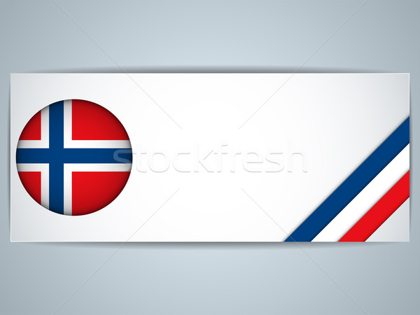 ノルウェー 国 セット バナー ベクトル ビジネス ストックフォト © gubh83