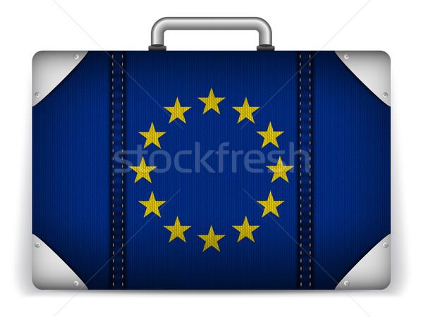 Europa viajar bagagem bandeira férias vetor Foto stock © gubh83