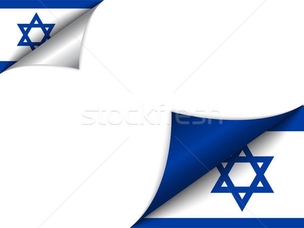 Israel país bandeira página vetor assinar Foto stock © gubh83