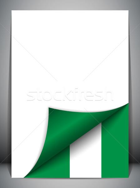 Nijerya ülke bayrak sayfa vektör imzalamak Stok fotoğraf © gubh83