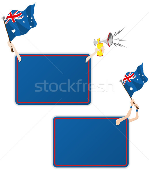 Australia Sport Message Frame with Flag. Set of Two Stock photo © gubh83
