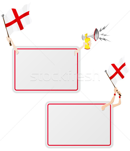 England Sport Message Frame with Flag. Set of Two Stock photo © gubh83