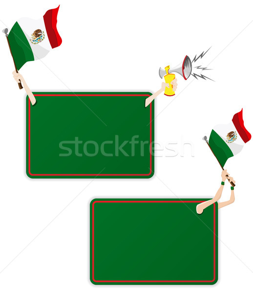 Mexico Sport Message Frame with Flag. Set of Two Stock photo © gubh83