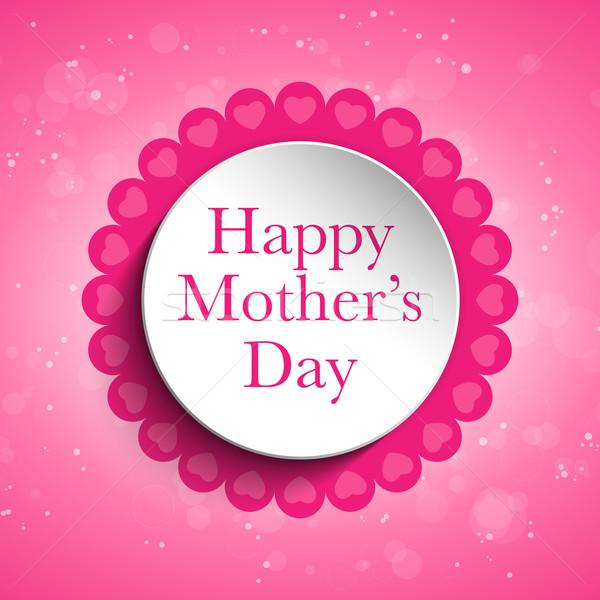 Gelukkig moeder dag hart tag vector Stockfoto © gubh83
