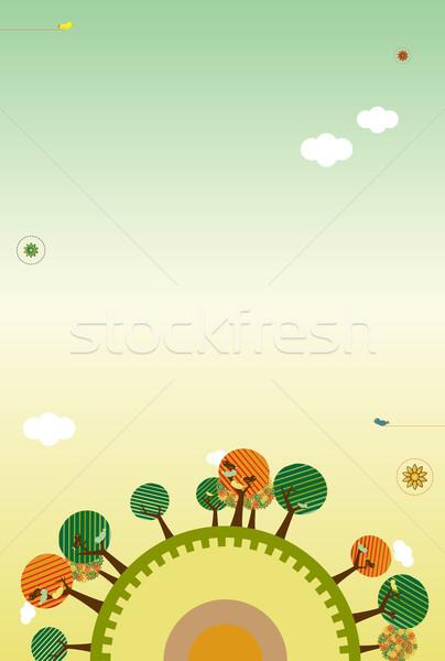 Stock photo: Retro Nature Layout