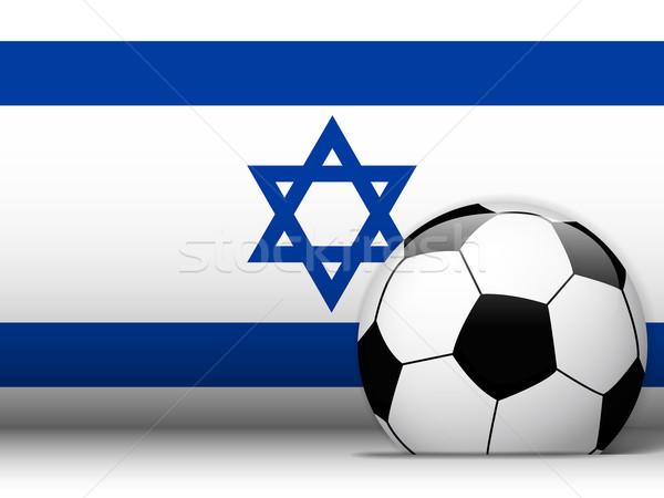 İsrail futbol topu bayrak vektör dizayn dünya Stok fotoğraf © gubh83
