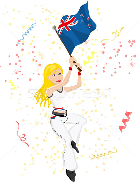 New Zealand voetbal fan vlag sexy Stockfoto © gubh83