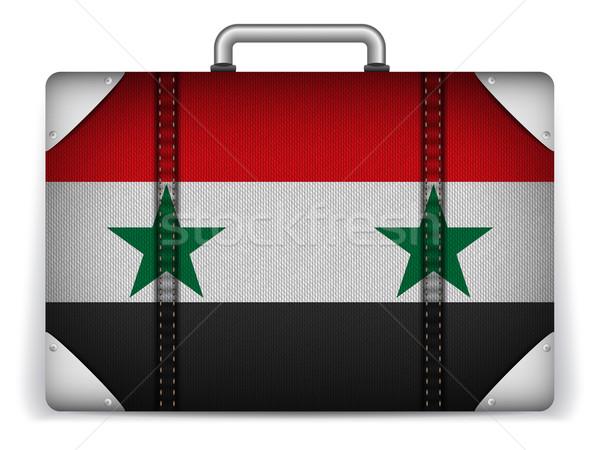 Syrië reizen bagage vlag vakantie vector Stockfoto © gubh83