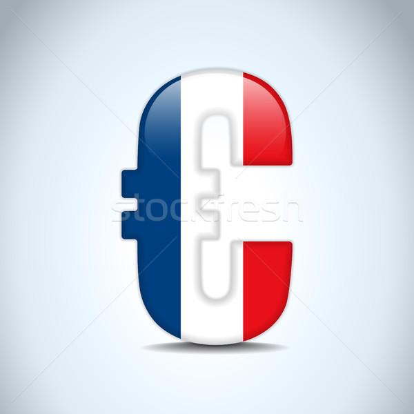 Stock fotó: Euro · szimbólum · Franciaország · zászló · vektor · pénz
