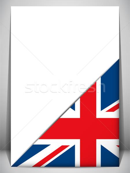 Regno Unito paese bandiera pagina segno carta Foto d'archivio © gubh83