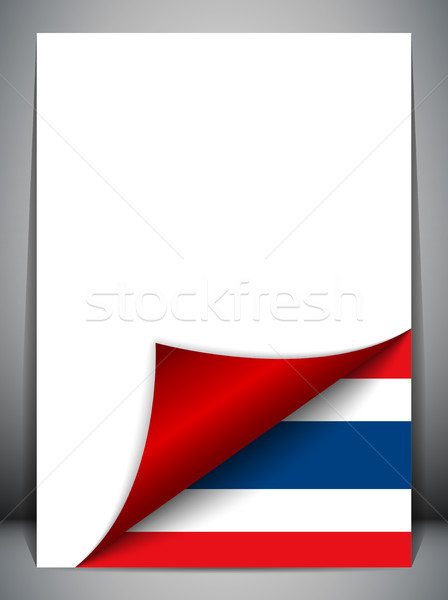 Thailand Country Flag Turning Page Stock photo © gubh83