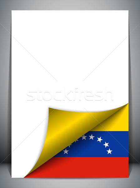 Venezuela vidék zászló oldal vektor felirat Stock fotó © gubh83