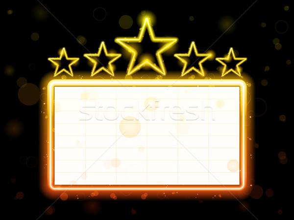 Star neon film teken witte exemplaar ruimte Stockfoto © gubh83