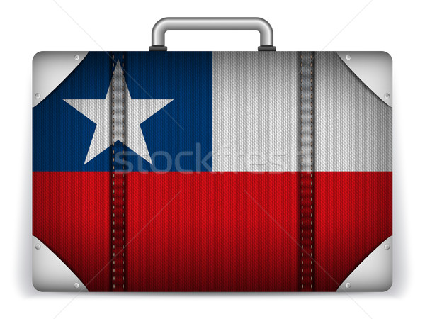 Chile utazás csomagok zászló vakáció vektor Stock fotó © gubh83