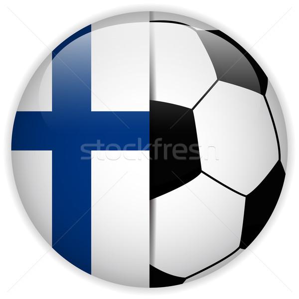 Finnország zászló futballabda vektor világ futball Stock fotó © gubh83