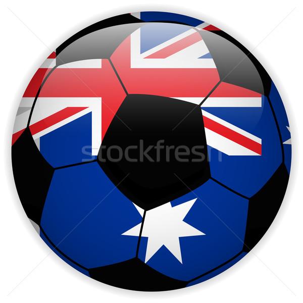 Austrália bandeira futebol vetor mundo futebol Foto stock © gubh83